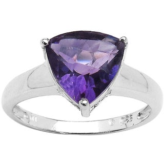 Malaika Sterling Silver Genuine Amethyst 1.90ct TGW Ring