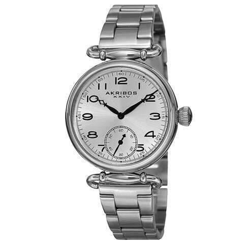Akribos XXIV Women's Quartz Multifunction Stainless Steel Silver-Tone Bracelet Watch