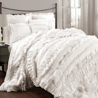 Lush Decor Belle 4-piece King Size Comforter Set in Ivory (As is Item)