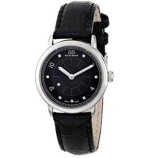 88 Rue du Rhone Women's 87WA120006 'Double 8 Origin' Swiss Quartz Black Leather Watch