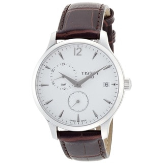 Tissot Men's T0636391603700 'Tradition GMT' Chronograph Brown Leather Watch