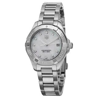Link to Tag Heuer Women's WAY1313.BA0915 'Aquaracer' Stainless Steel Watch Similar Items in Women's Watches