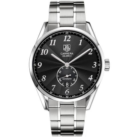 Tag Heuer Men's WAS2110.BA0732 'Carrera Calibre 6 Heritage' Stainless Steel Watch