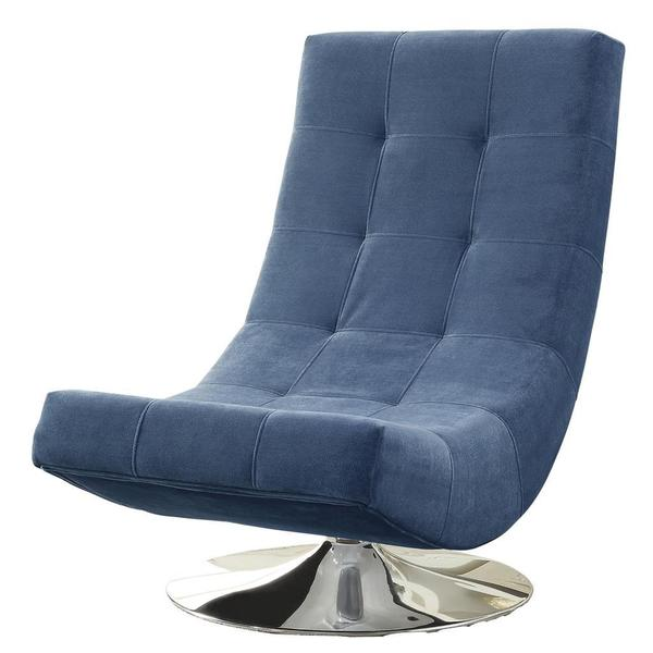 Shop Electra Swivel Tufted Accent Chair Blue Overstock