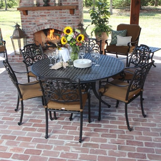 Evangeline 7-piece Cast Aluminum Patio Dining Set