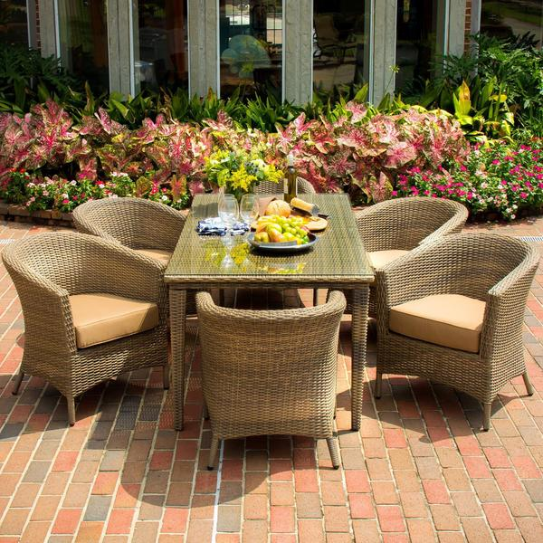St Martin 6 person Resin Wicker Patio Dining Set Free