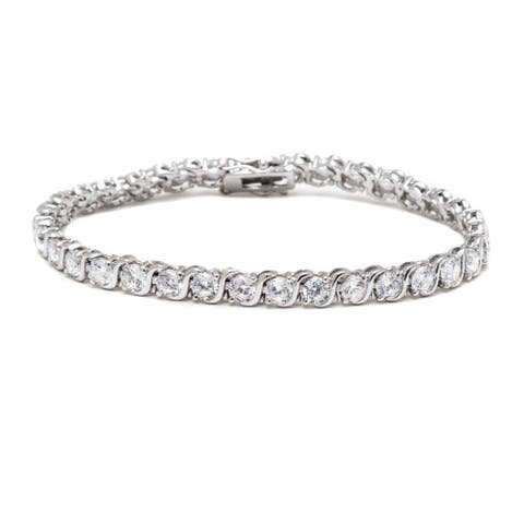 Rhodium-plated Tennis Bracelet
