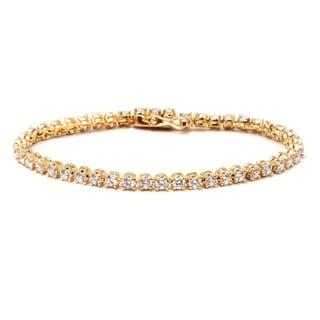 Link to Goldplated Austrian Crystal Elements Round-cut Tennis Bracelet Similar Items in Bracelets