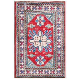 Herat Oriental Afghan Hand-knotted Tribal Kazak Wool Rug (2' x 3')
