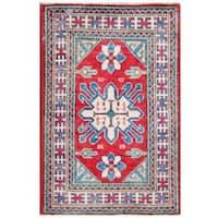 Herat Oriental Afghan Hand-knotted Tribal Kazak Wool Rug (2' x 3') - 2' x 3'