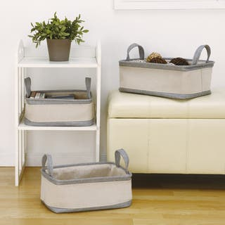 Grey/ Off-white Cotton Handle Storage Baskets (Set of 3)|https://ak1.ostkcdn.com/images/products/9972828/P17125446.jpg?impolicy=medium