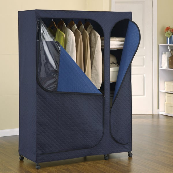 Shop Sapphire Dark Blue Metal And Bamboo Carbon Storage