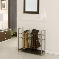Champagne-finish Metal Stackable Boot Rack
