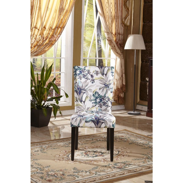 Shop Classic Parson Floral Fabric Dining Chair Set Of 2