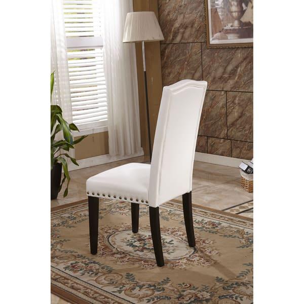 Remarkable Shop Classic Faux Leather Parson Chairs With Nailhead Trim Creativecarmelina Interior Chair Design Creativecarmelinacom