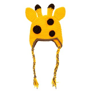 Crummy Bunny Hand-knit Giraffe Baby Beanie