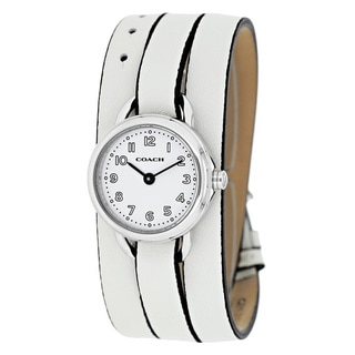 Coach Women's 14501980 'Classic' White Leather Watch