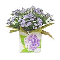 Creative Display Faux Lavender Floral Ceramic Vase Decoration