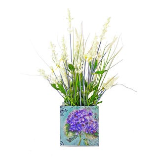 Creative Display White Heather Floral Decoration