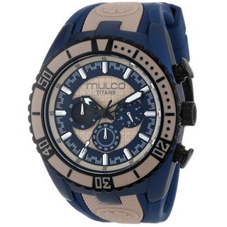 Mulco Women's 'Titans Wave' Chronograph Blue Rubber Watch