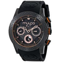 Mulco Women's MW51962260 'Nuit Mia' Chronograph Black Rubber Watch