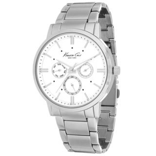 Kenneth Cole Men's 10019441 Classic Round Silvertone Bracelet Watch