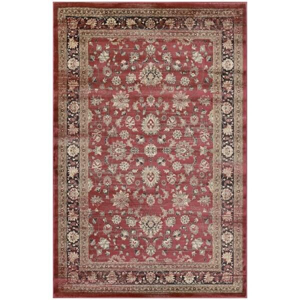 Couristan Zahara Farahan Amulet/Red-Black-Oatmeal Area Rug - 5'3 x 7'6
