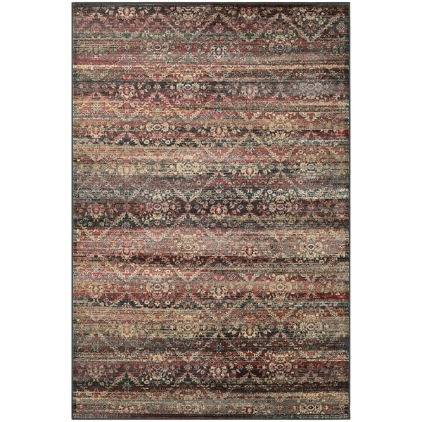 Couristan Zahara All Over Diamond/Red-Black-Oatmeal Area Rug - 5'3 x 7'6