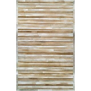 """CHALET Plank/Beige-Brown 5'6"""" x 8' Rug"""