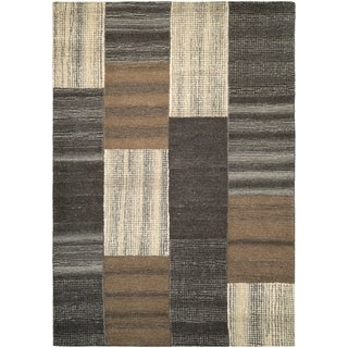 Couristan Super Indo-Natural Luster/Brown Area Rug - 5'6 x 8'