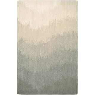 "SUPER INDO-NATURAL Neutral Ombre/Grey 5'6"" x 8' Rug"