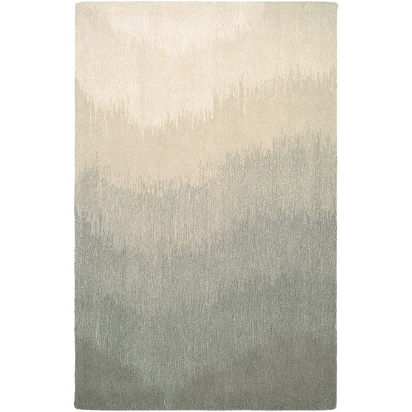 """Hand-Crafted Barlow Ombre Gray Area Rug - 5'6"""" x 8'"""