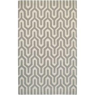 Couristan Super Indo-Natural Cambria/White-Grey Wool Area Rug - 5'6 x 8'