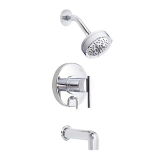 Danze Parma Tub and D512058T Polished Chrome Shower Faucet