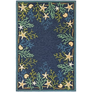 Couristan Outdoor Escape Sea Water/ Ocean Aqua Area Rug (3u00276 X