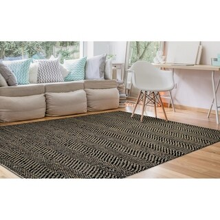 Couristan Nature's Elements Ice/Black Area Rug - 6' x 9'