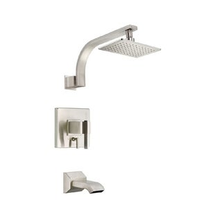Danze Sirius Tub and D512044BNT Brushed Nickel Shower Faucet