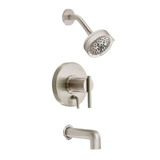 Danze Parma Tub and D512058BNT Brushed Nickel Shower Faucet