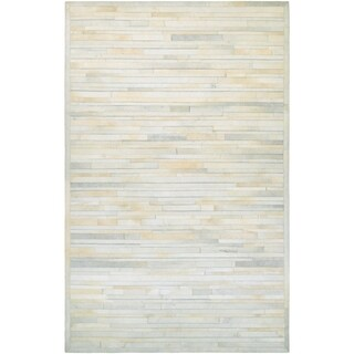Couristan Chalet Plank/Ivory Cowhide Leather Area Rug - 3'6 x 5'6
