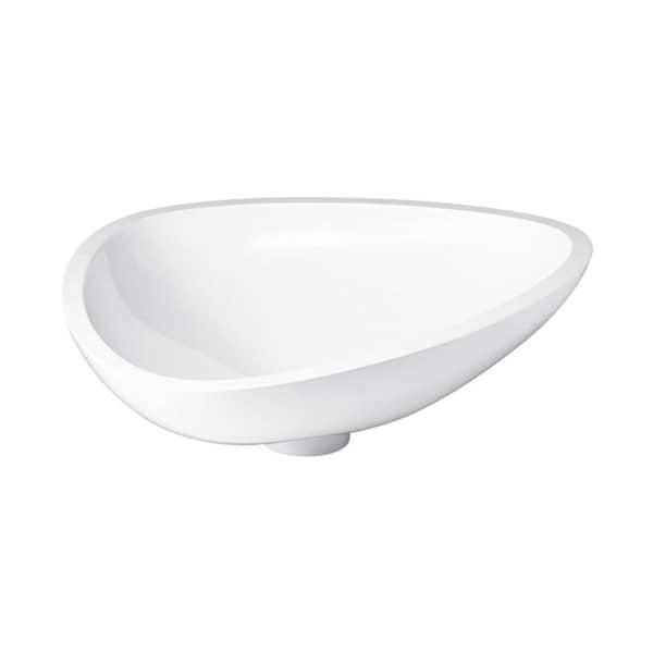 Hansgrohe AXOR Massaud Vessel Sink, Small 42305000 Alpine White