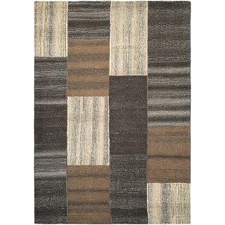 """Couristan Super Indo-Natural Luster/Brown Wool Area Rug - 3'6"""" x 5'6"""""""