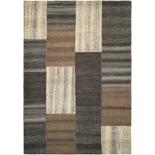 Couristan Super Indo-Natural Luster/Brown Wool Area Rug - 3'6 x 5'6