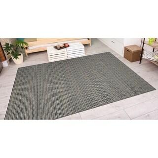 Couristan Cape Barnstable/Black-Gold Indoor/Outdoor Area Rug (3'11 x 5'6) - 3'11 x 5'6