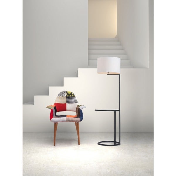 Swift White and Black Floor Lamp