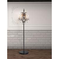 Phoenix Distressed Black Floor Lamp