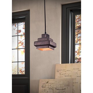 Wellingston Rustic Black Ceiling Lamp
