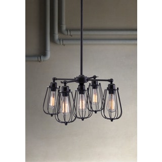 Porirua Distressed Black Ceiling Lamp