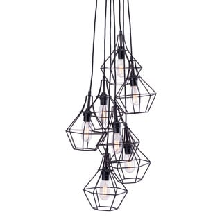 Palmerston Distressed Black Ceiling Lamp