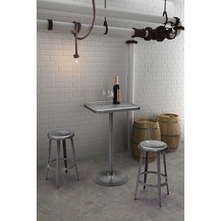 Mallus Powder Coated Gunmetal Bar Table