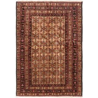 Ecarpetgallery Finest Mouri Beige Wool Open Field Rug Rectangular (4'1 x 5'11)